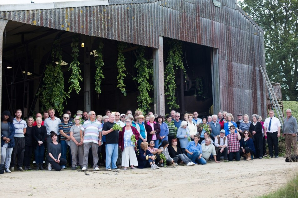 Hop Harvest Trip, Little Scotney Farm, Kent,  2014. Photo by Elena Heatherwick