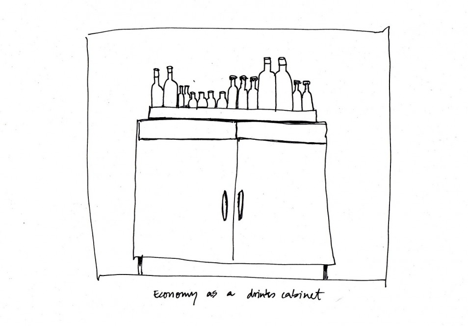 'Economy as Drinks Cabinet' Kathrin Böhm, 2014