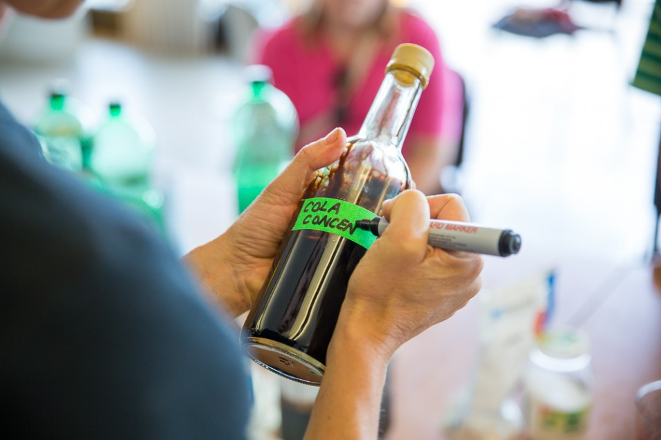 Cola Making workshop with Kate Rich at the Millennium Centre. Summer 2014. Image: Emil Charlaff