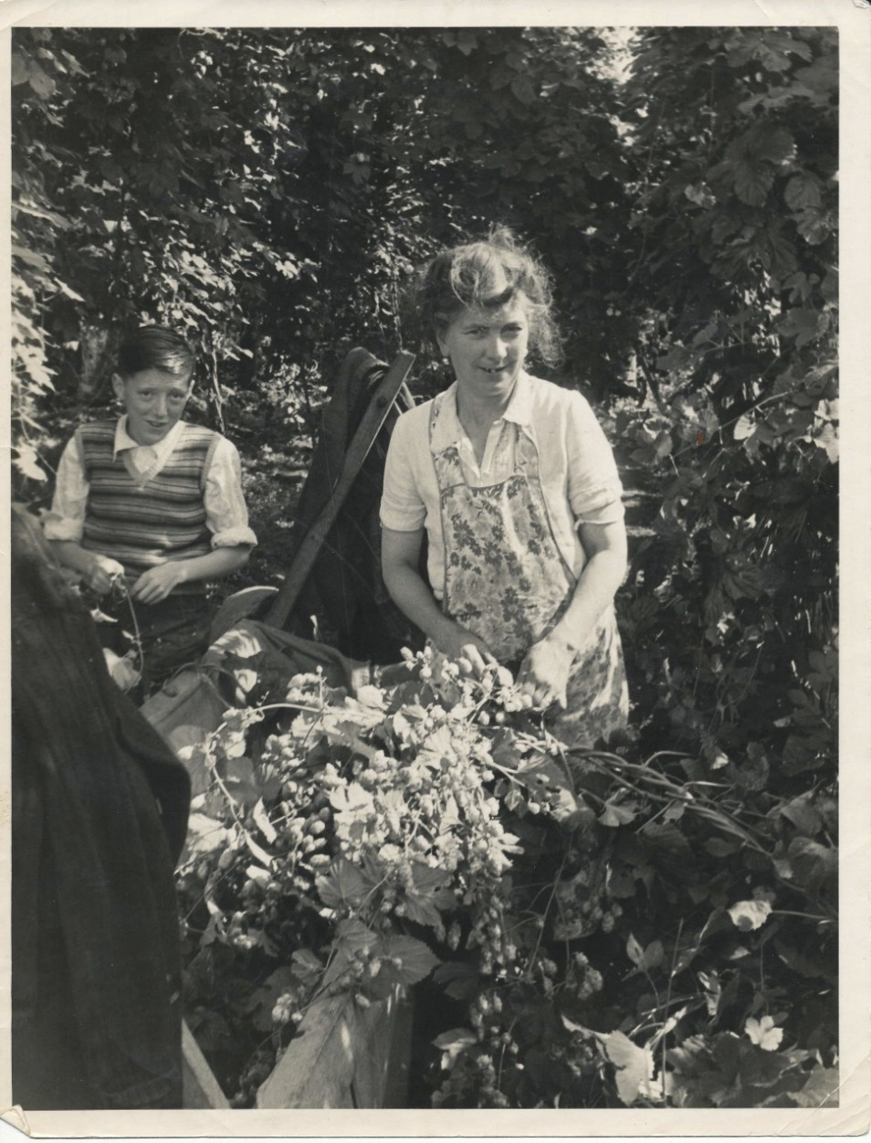 Image from Maureen Hostler's archive. Mother Ellen and brother Terry 1949.