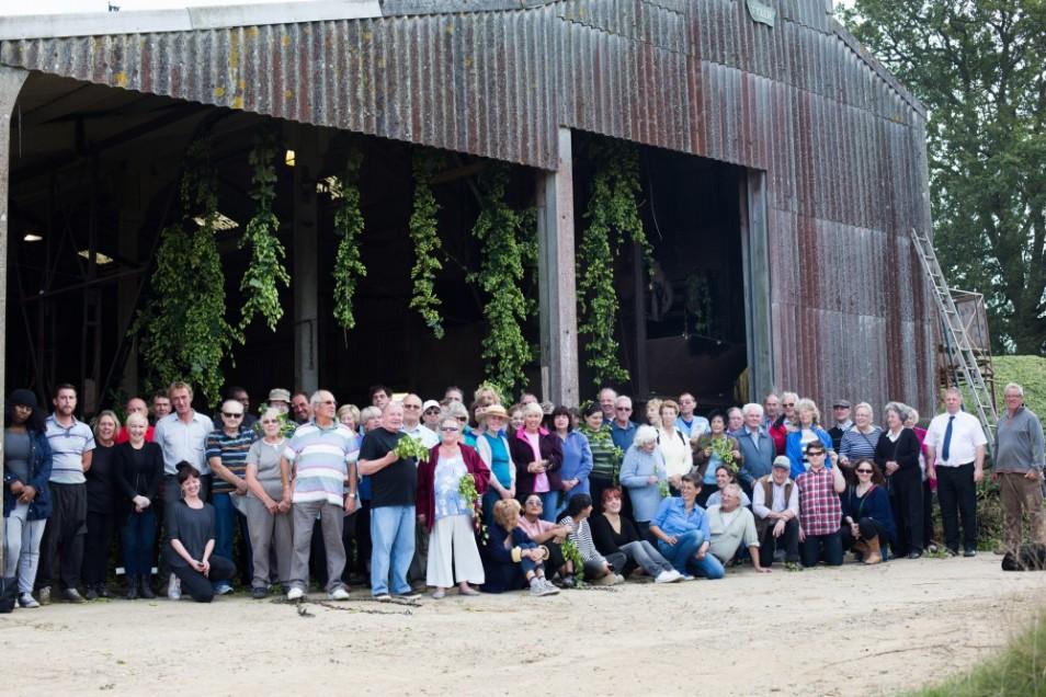 Hop Harvest Trip, Little Scotney Farm, Kent,  2014. Photo by Elena Heatherwick